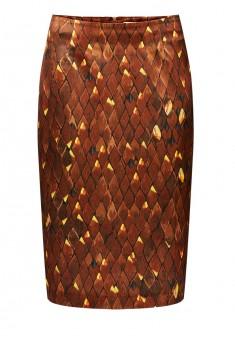 Юбка для женщины цвет коричневый