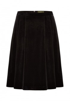 Трикотажная юбка для женщины цвет черный