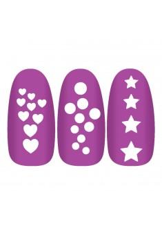 Трафареты для маникюра  Manicure stencil guide  Конфетти арт 7516