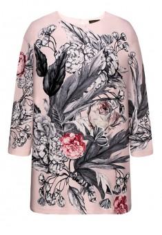 Трикотажная блузка с рукавом 34 цвет светлорозовый