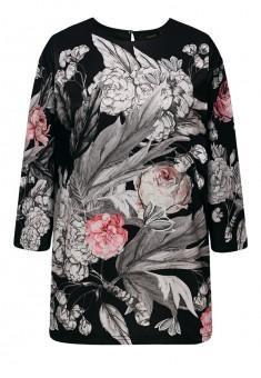 Трикотажная блузка с рукавом 34 цвет чёрный