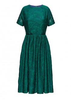 Платье с коротким рукавом для женщины цвет морская волна
