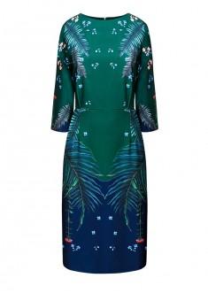 Платье с рукавом 34 для женщины цвет синезеленый