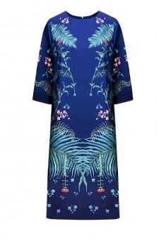 Платье с рукавом 34 цвет синий