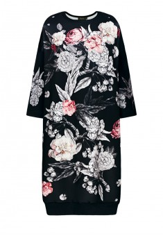 Трикотажное платье с рукавом 34 цвет чёрный