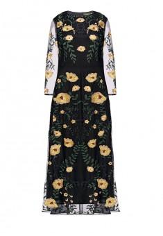 Платье с рукавом 34 мультицвет