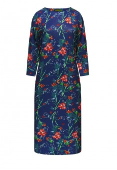Платье с рукавом 34 цвет тёмносиний