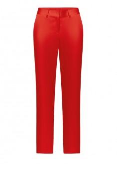 Зауженные атласные брюки цвет красный