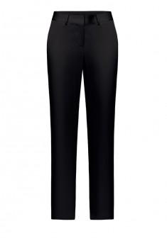 Зауженные атласные брюки цвет черный