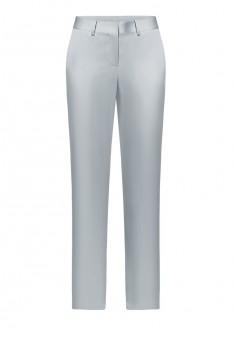 Зауженные атласные брюки цвет серый