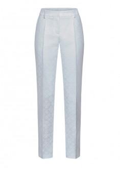 Зауженные брюки из жаккарда ФлердеЛис цвет сероголубой