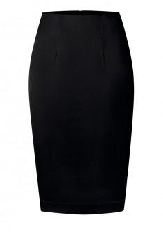 Атласная юбка цвет черный