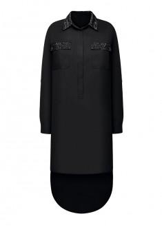 Платье с длинным рукавом для женщины цвет черный