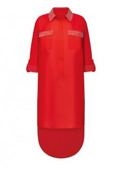 Платье с длинным рукавом для женщины цвет красный