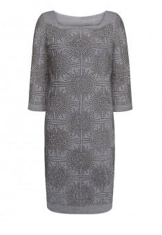 Трикотажное платье с рукавом 34 для женщины цвет серый меланж