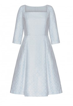 Платье из жаккарда ФлердеЛис цвет сероголубой