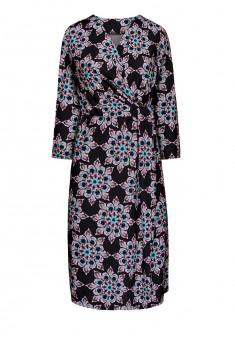 Трикотажное платье с рукавом 34 для женщины цвет черный