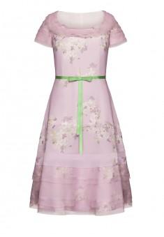 Платье с коротким рукавом для женщины цвет светлолиловый