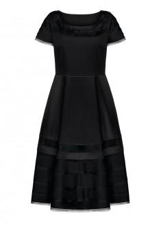 Платье с коротким рукавом для женщины цвет черный