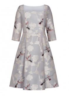 Платье с рукавом 34 для женщины цвет пудровый