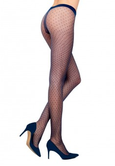 Dotted tights 20 den blue
