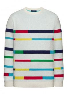 Knitted jumper for men light grey melange
