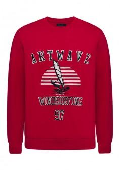 Knitted jumper for men dark red