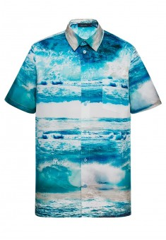 Short sleeve shirt for men bright blue
