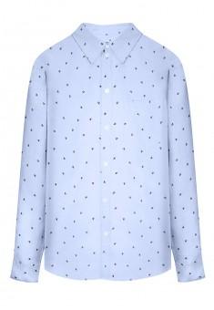 Рубашка с набивным рисунком для мужчины цвет голубой
