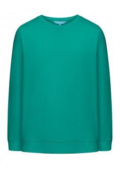 Трикотажный пуловер для девочки цвет морской