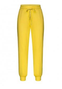 Трикотажные брюки для девочки цвет яркожелтый