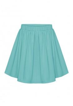 Трикотажная юбка для девочки цвет светлоголубой