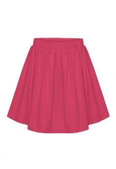 Трикотажная юбка для девочки цвет малиновый