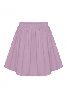 Трикотажная юбка для девочки цвет сиреневый