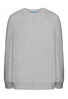 Jersey pullover for men grey melange