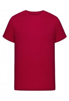 Трикотажная футболка для мужчины цвет красный
