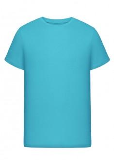 Трикотажная футболка для мужчины цвет голубой