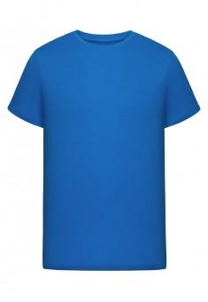 Трикотажная футболка для мужчины цвет яркоголубой