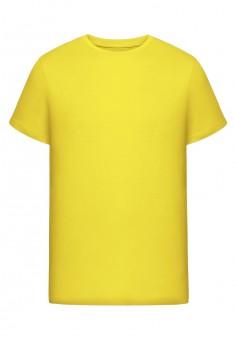 Трикотажная футболка для мужчины цвет желтый