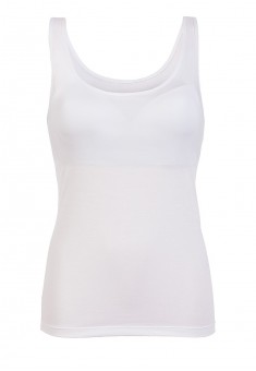 Top with an integrated bra white