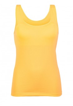 Top with an integrated bra yellow