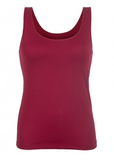 Top with an integrated bra wine red