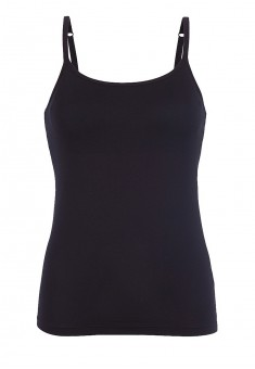 Strappy top with an integrated bra black