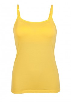 Strappy top with an integrated bra yellow