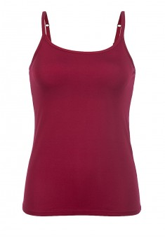 Strappy top with an integrated bra wine red