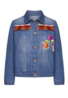 Джинсовая куртка для девочки цвет голубой