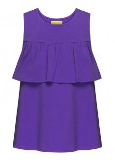 Трикотажный топ для девочки цвет фиолетовый