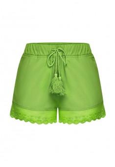 Шорты с кружевом для девочки цвет сочнозеленый