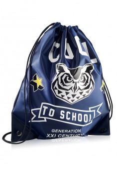 Owl Shoe bag blue