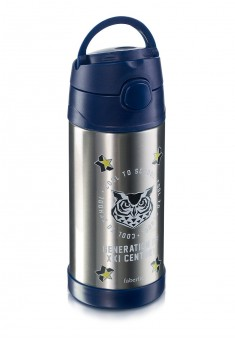 Owl Thermos blue